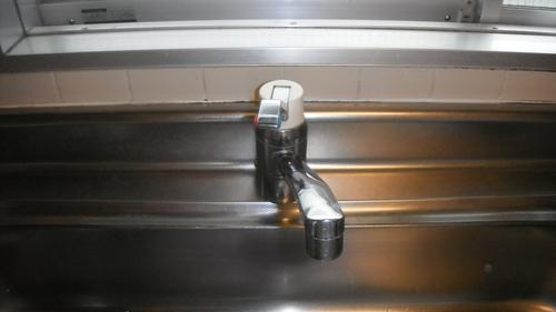 蛇口の水漏れ交換工事