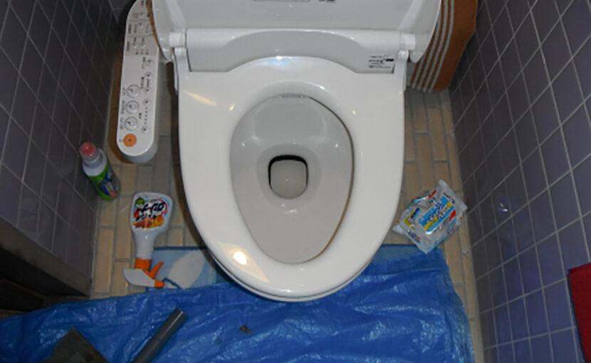 福岡県直方市 簡易水洗便器の水が突然流れない原因は、尿石だ!福岡ライフ水道サービス
