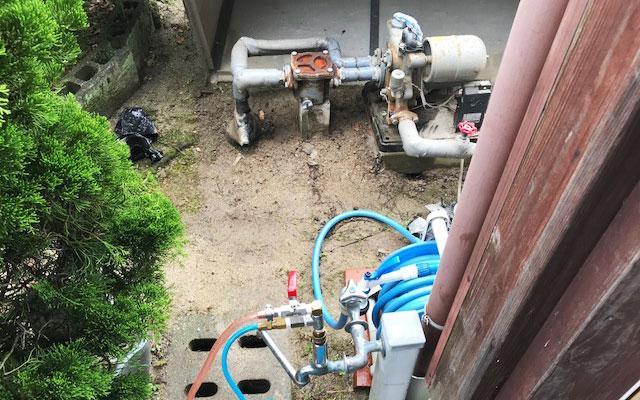 井戸ポンプの水道管洗浄・ポンプ交換工事(福岡県粕屋郡宇美町のお客様)