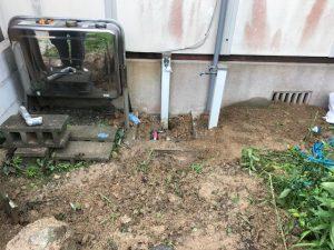 遠賀郡水道管水漏れで漏水調査