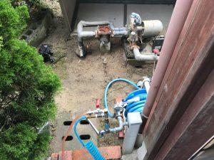 粕屋郡宇美町で井戸ポンプの交換工事
