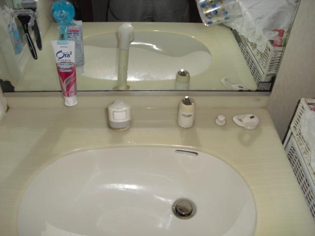 洗面蛇口からの水漏れ