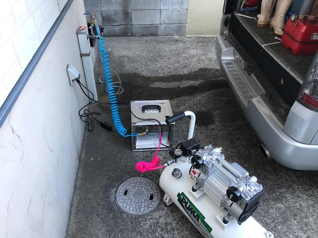 給水管洗浄機械
