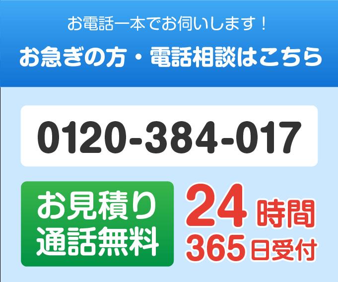 0120-384-017に電話する