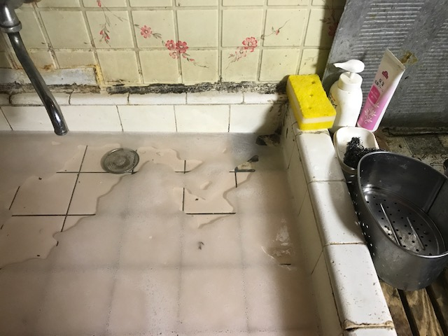 台所キッチンの排水つまり