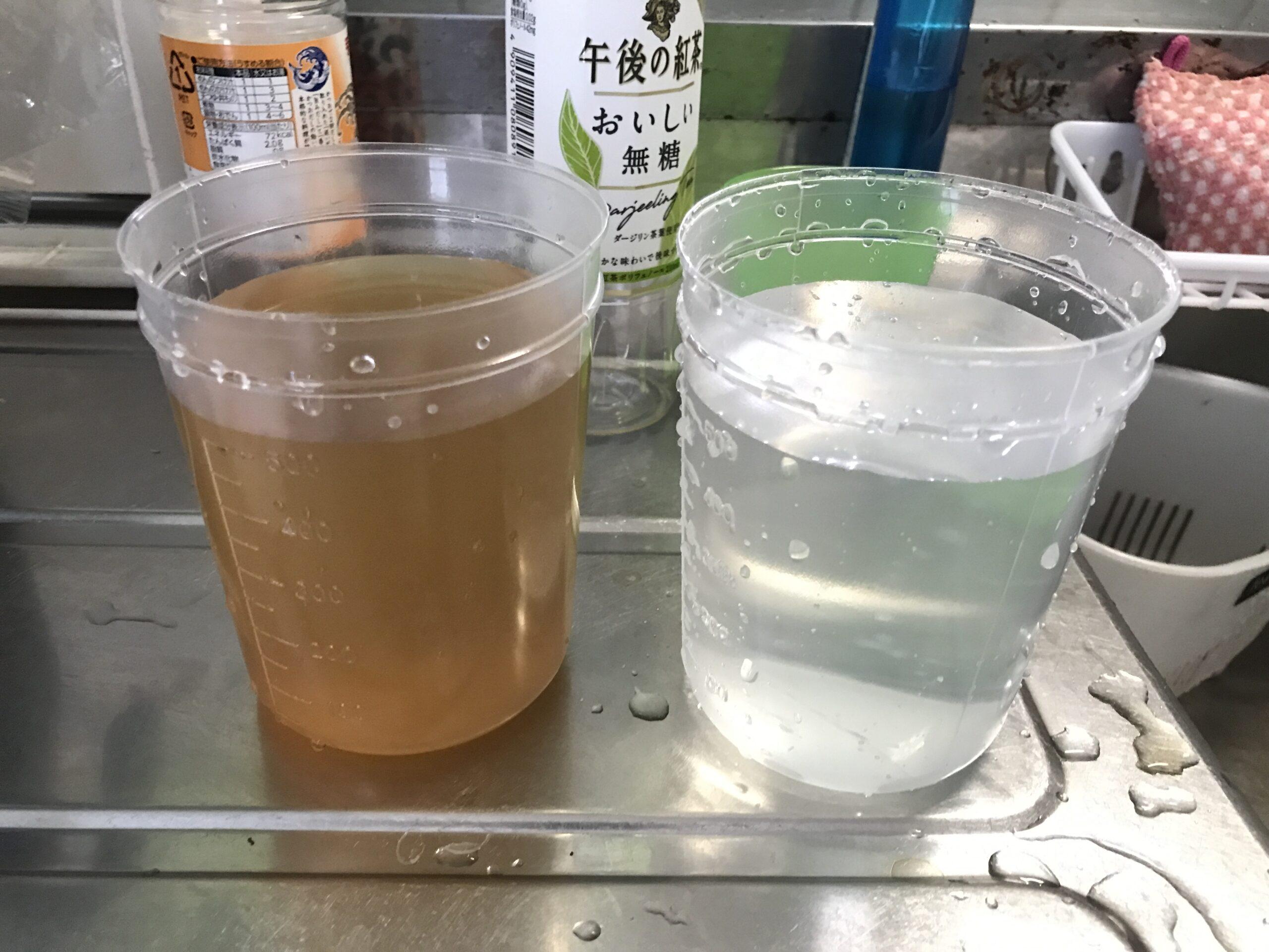 サビ汚れ水道水